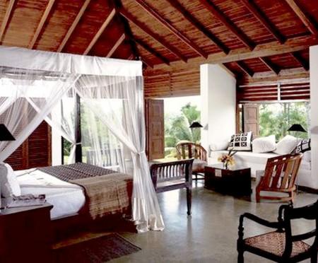 Dormitorios estilo colonial con madera