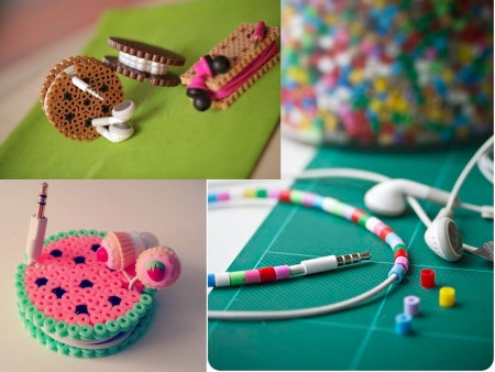 auriculares con hama beads