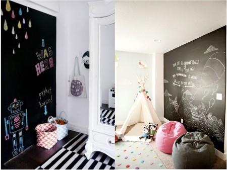 Decoración habitaciones infantiles con pizarras