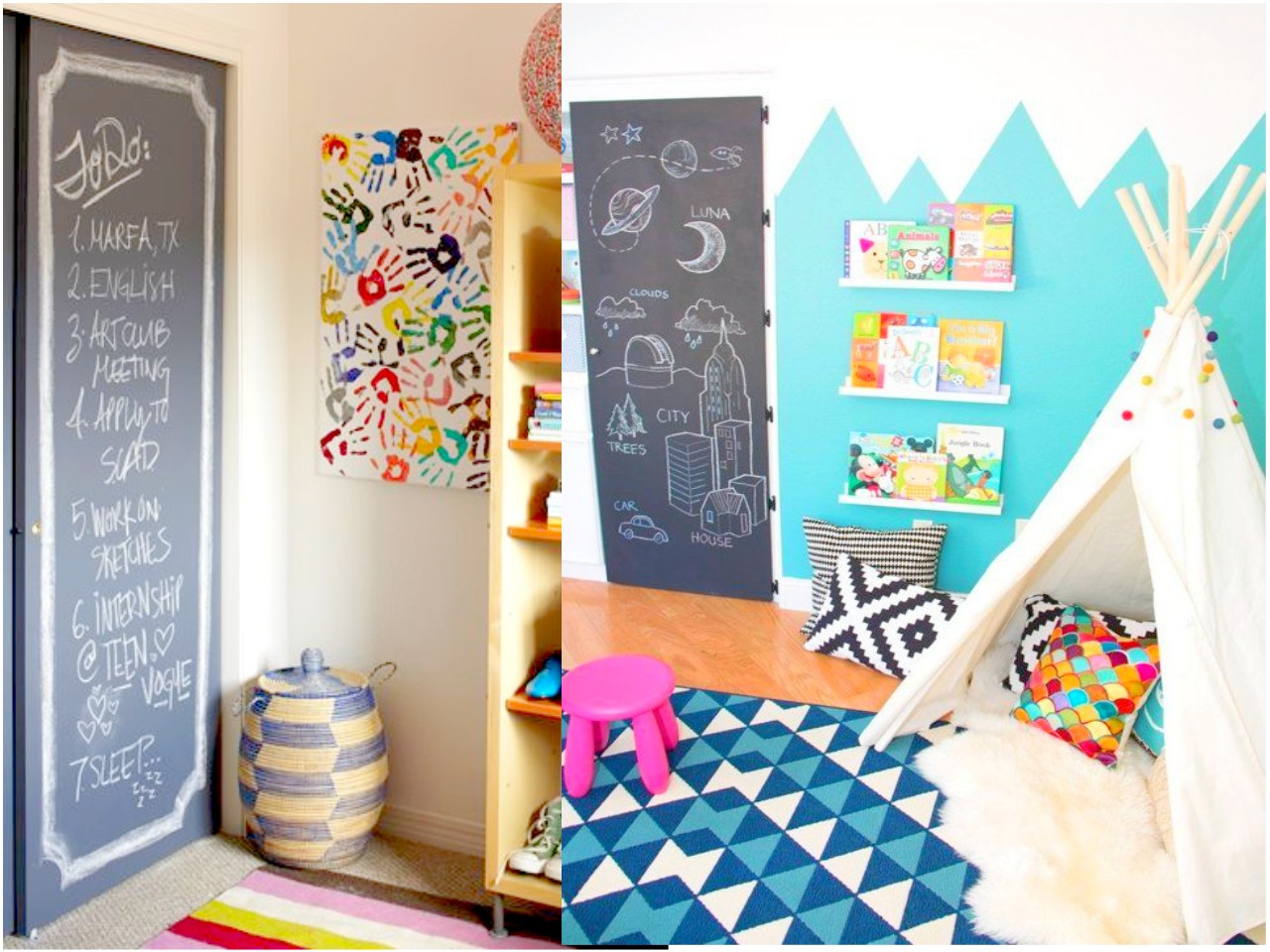 Las 6 mejores ideas de decoraci n con pizarras para casa for Ideas decoracion habitacion infantil nina