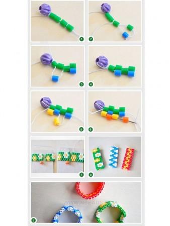 cómo hacer una pulsera de hama beads