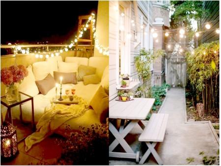 Luces de colores para la terraza