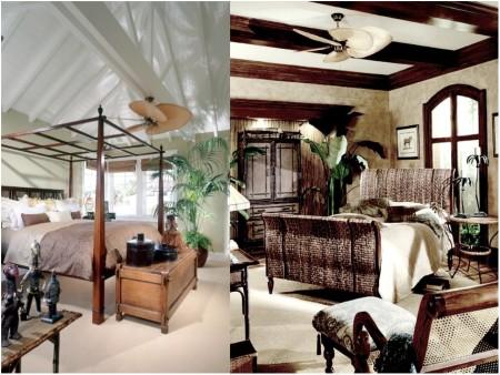 Decoración colonial con ventiladores
