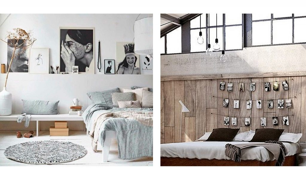 decoracion cabeceros de cama con imágenes