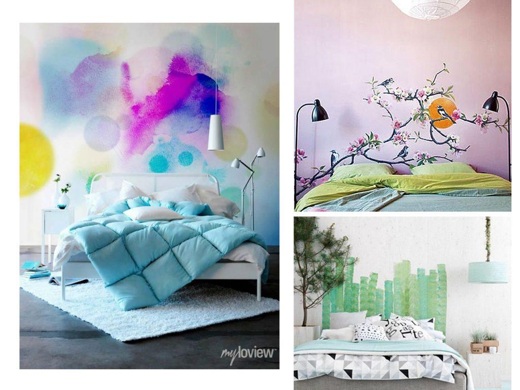 paredes de cabeceros de cama
