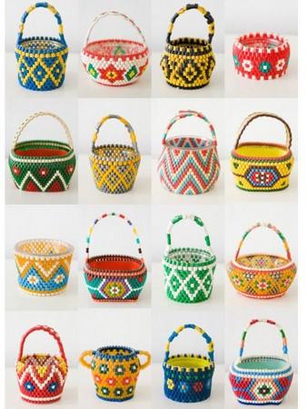 cestas de hama beads