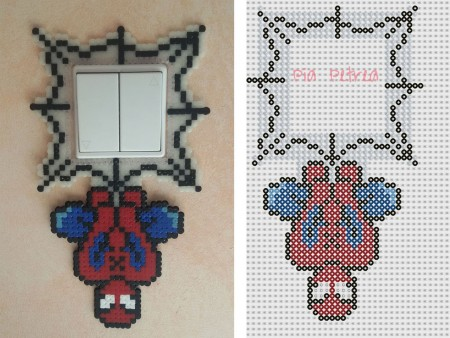 decorar enchufes con hama beads