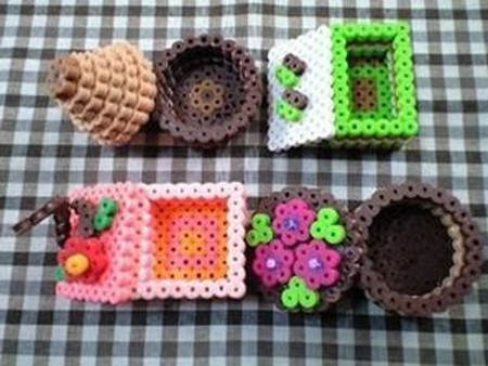 hacer cajas con hama beads
