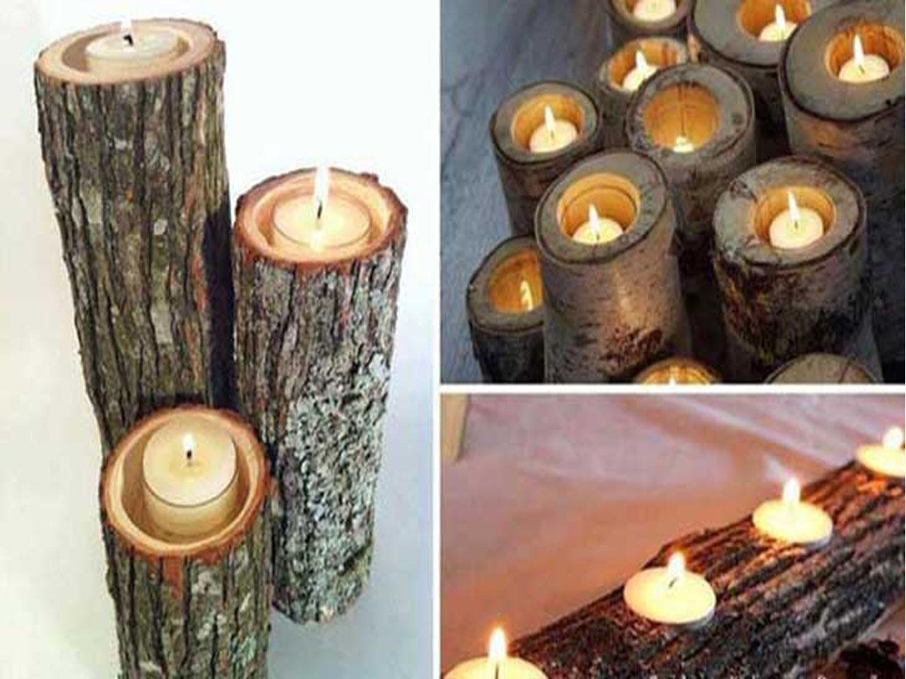 15 Ideas Molonas Y Rusticas De Decoracion Con Troncos De Arboles - Troncos-de-arboles-decorativos