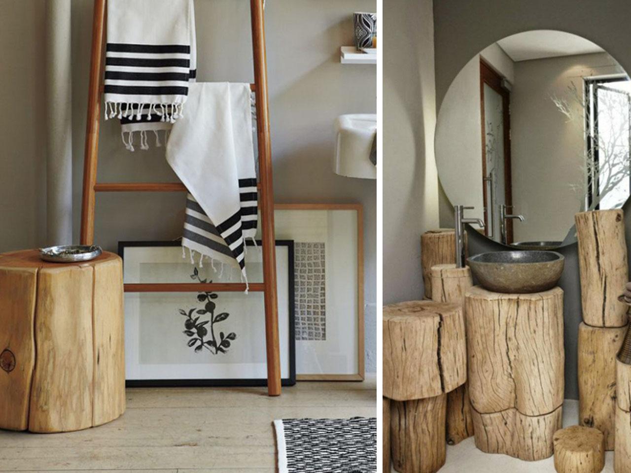15 ideas molonas y r sticas de decoraci n con troncos de for Ideas para hacer espejos decorativos
