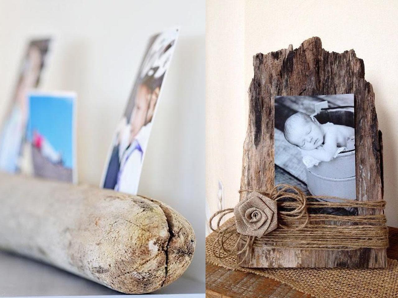 15 Ideas molonas y rústicas de decoración con troncos de árboles