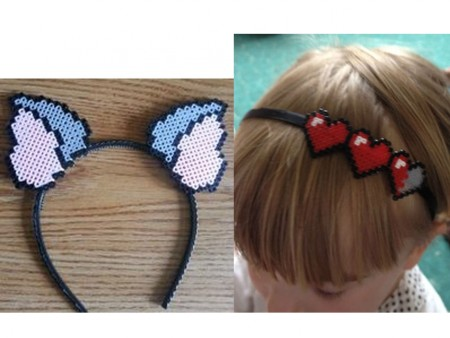 diademas de hama beads