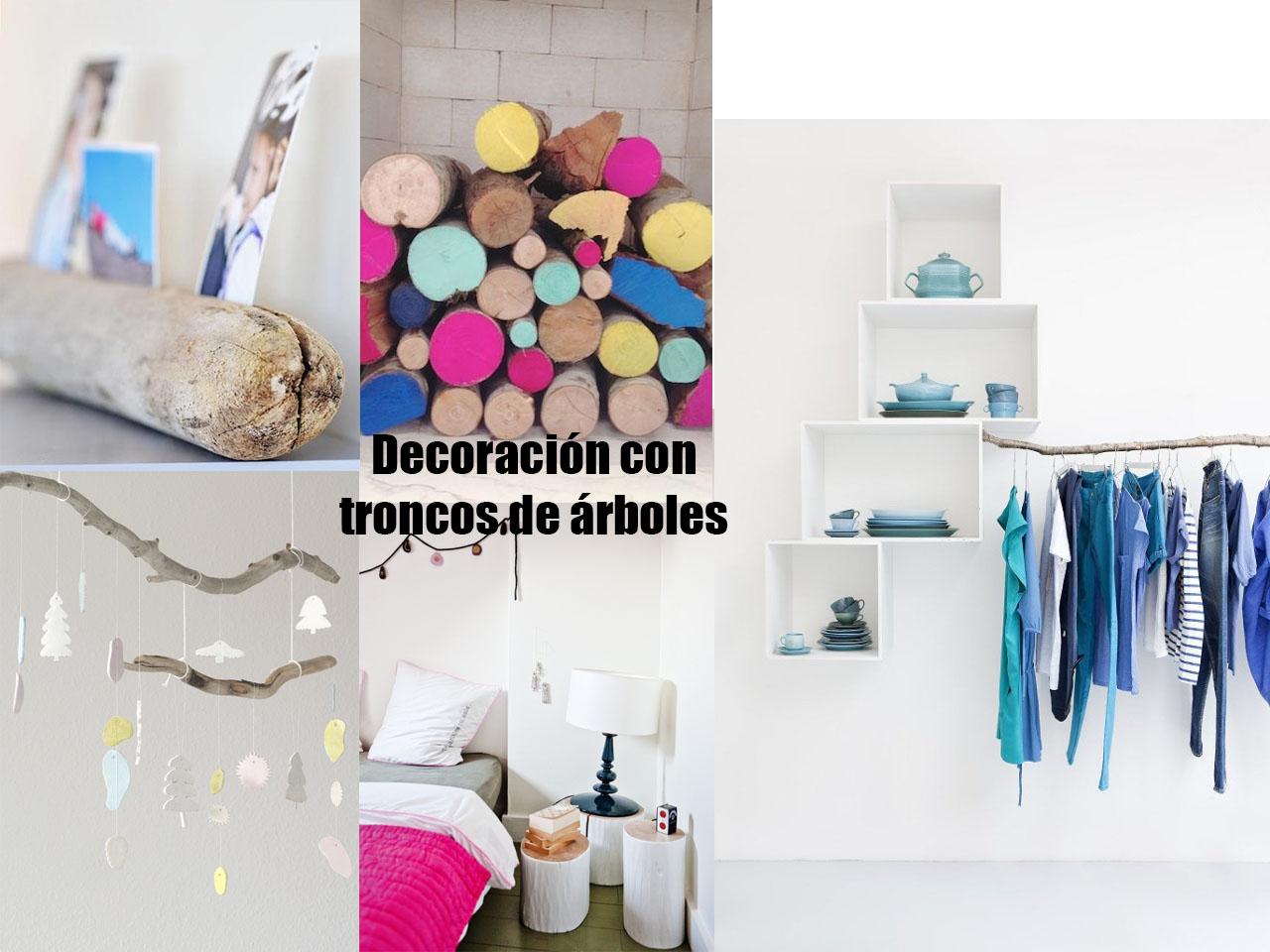 15 ideas molonas y r sticas de decoraci n con troncos de - Ideas originales decoracion ...
