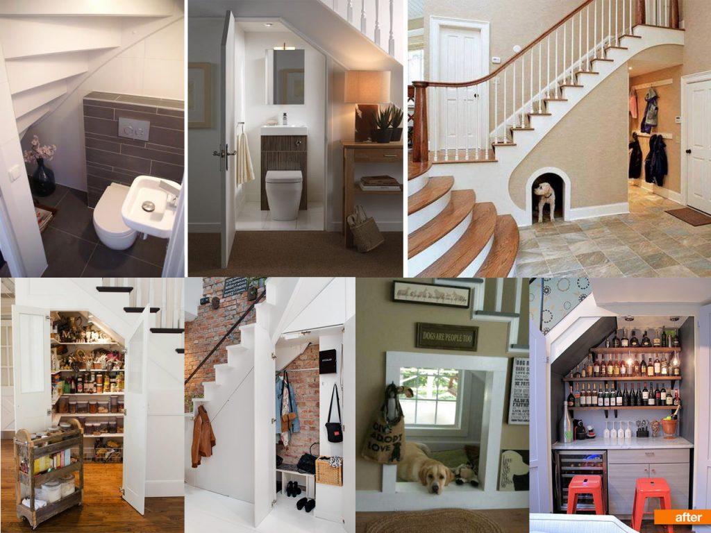 mini cuarto para aprovechar espacios debajo de escaleras