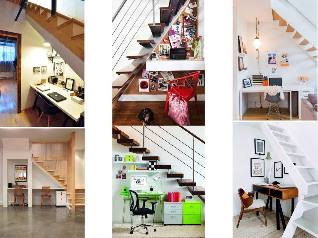 aprovechar espacios debajo de escaleras para trabajar