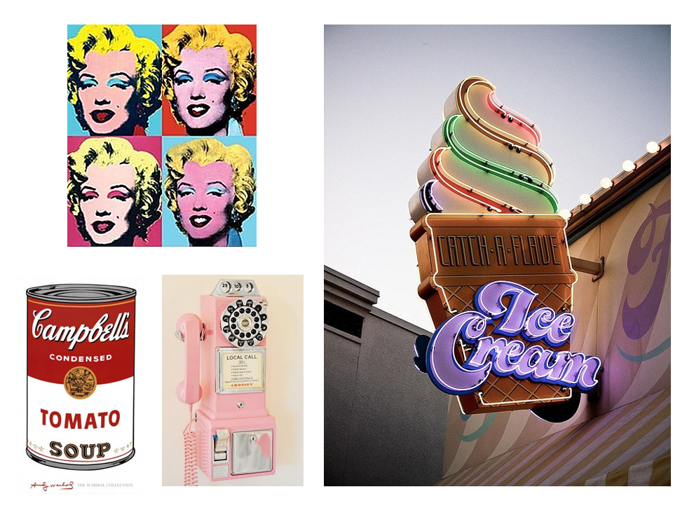 pop art en la decoracion vintage americana