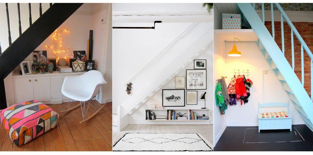 aprovechar espacios debajo de escaleras de casa