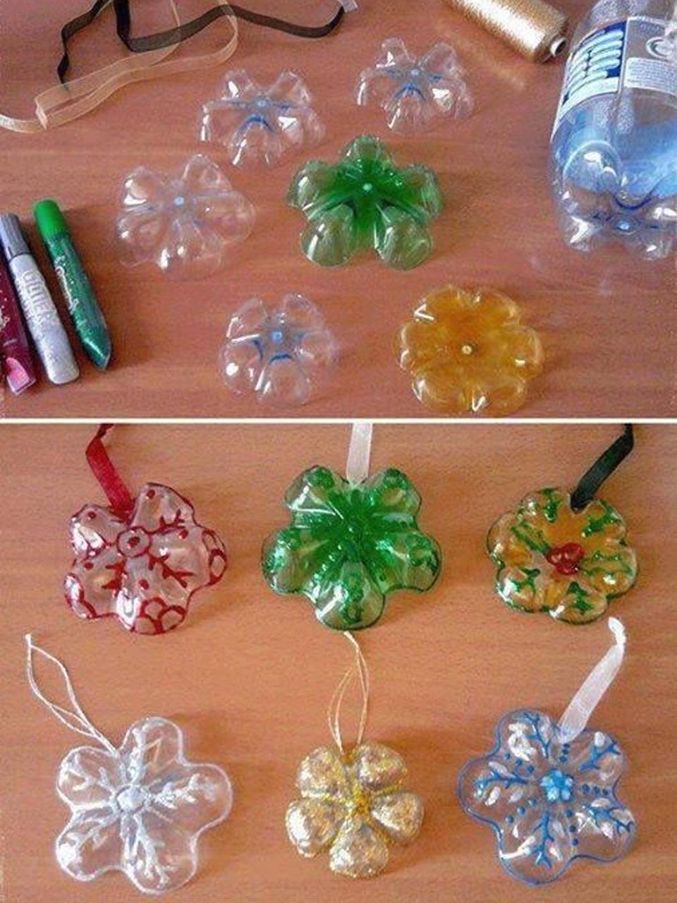 11 Divertidos ejemplos de decoración navideña reciclada