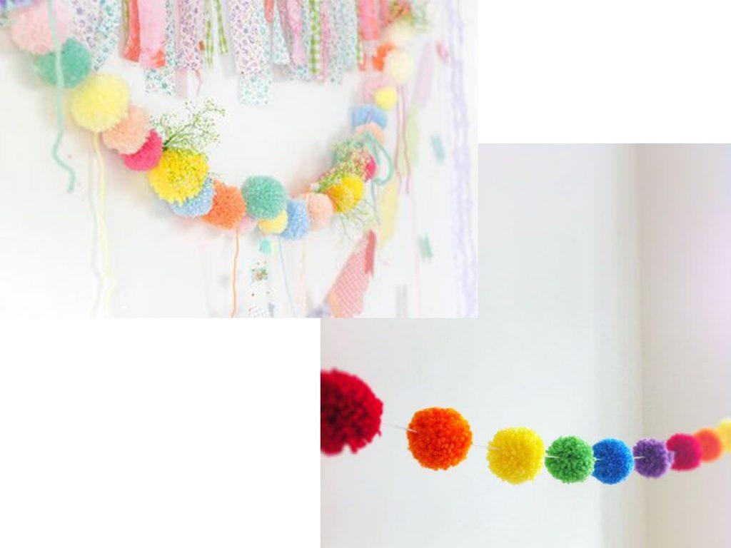 pompones para fiestas