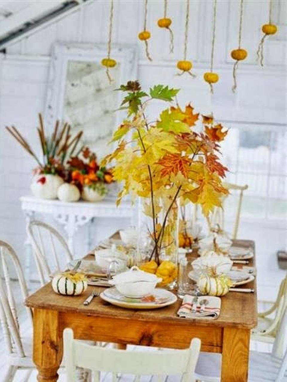 Decorar con hojas secas las 9 mejores ideas for Ideas para decorar la casa en otono