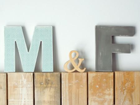 decorar con letras de madera