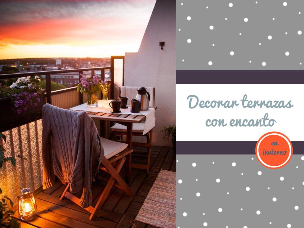 Decorar terrazas con mucho encanto ¡También en invierno!