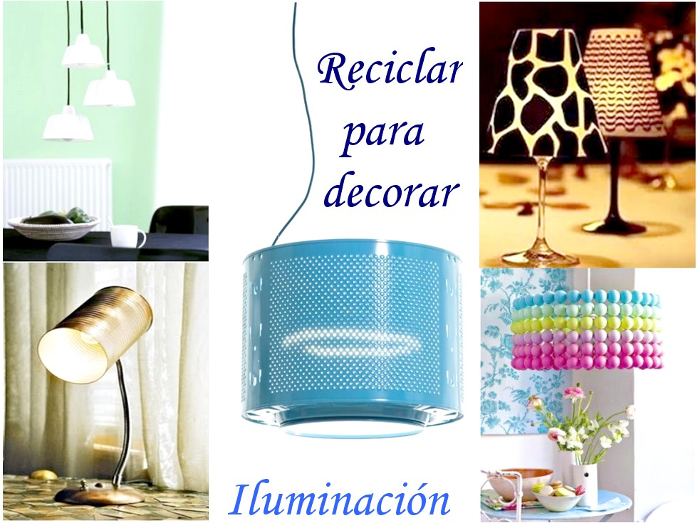 10 Ideas originales de reciclar para decorar con lmparas