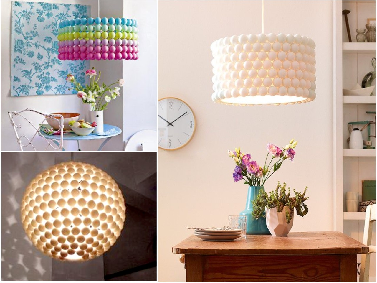 10 ideas originales de reciclar para decorar con l mparas for Adornos para decorar