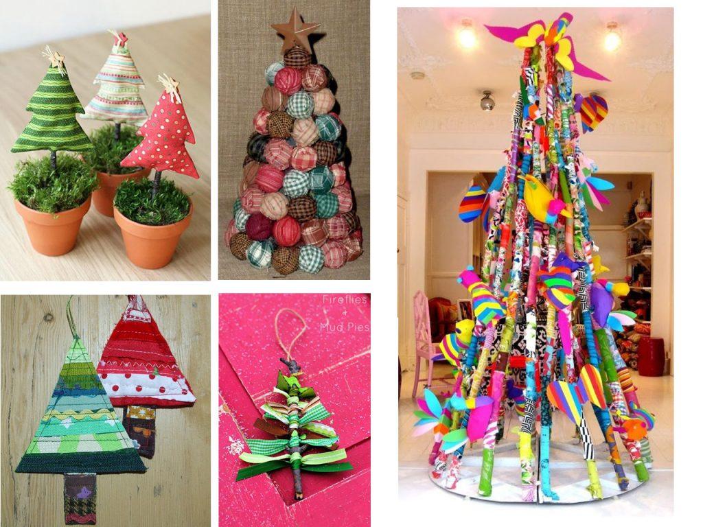 decoración de navidad con telas