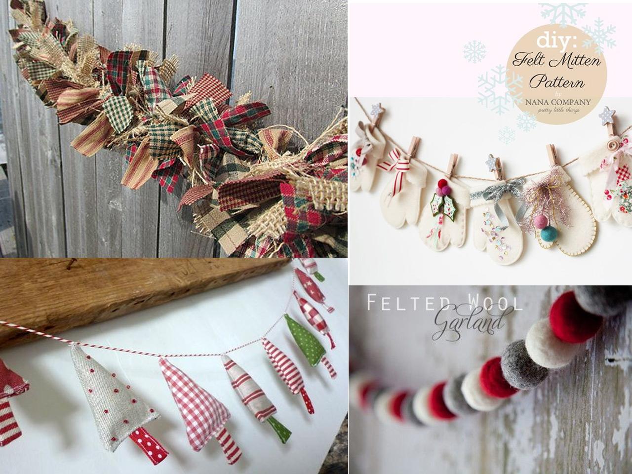 45 propuestas para una decoraci n navide a con telas - Ideas de decoracion navidena ...