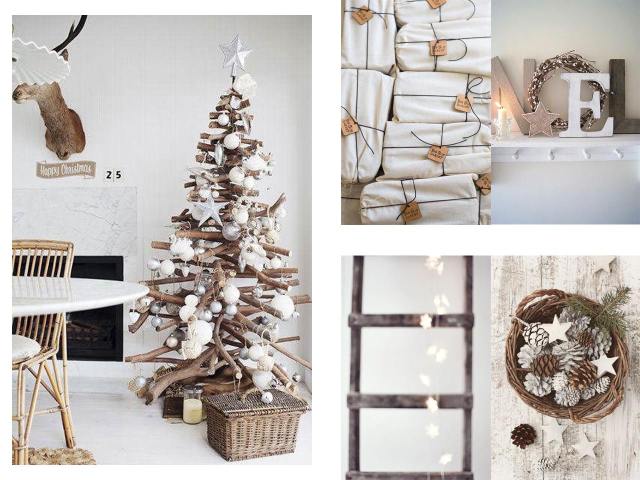 La magia de la decoraci n navide a en blanco - Decoracion navidena natural ...