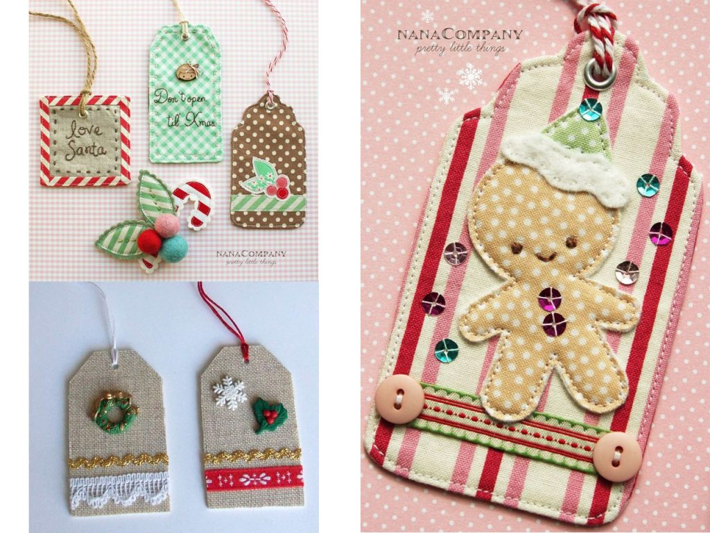 decoracion navideña con telas