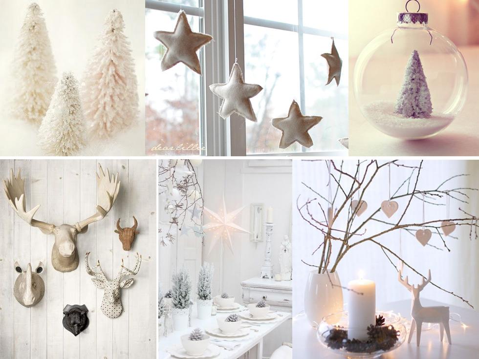 La magia de la decoraci n navide a en blanco for Decoracion luminosa navidena