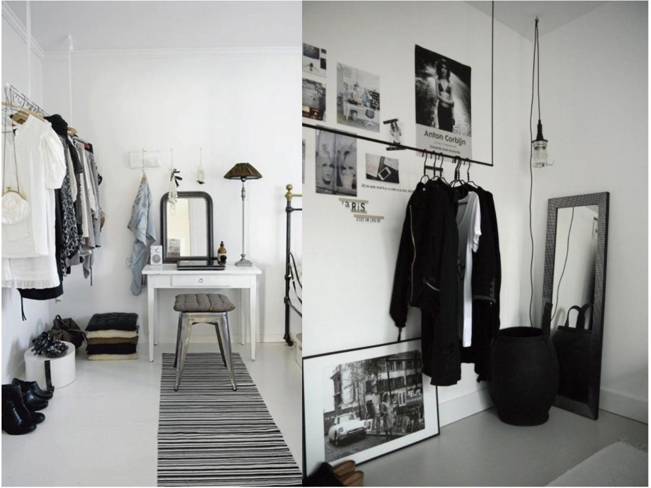 Las 15 mejores ideas para un dormitorio con vestidor abierto for Zapateros colgados