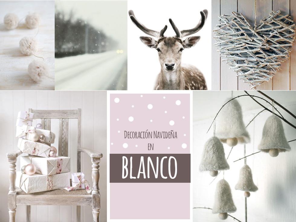La magia de la decoración navideña en blanco