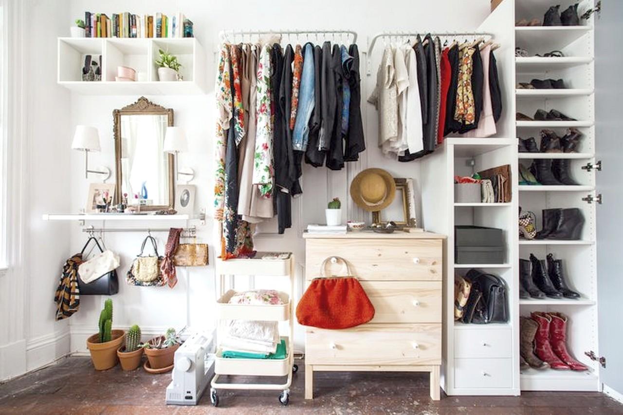 Las 15 Mejores Ideas Para Un Dormitorio Con Vestidor Abierto ~ Vestidores En Habitaciones Pequeñas