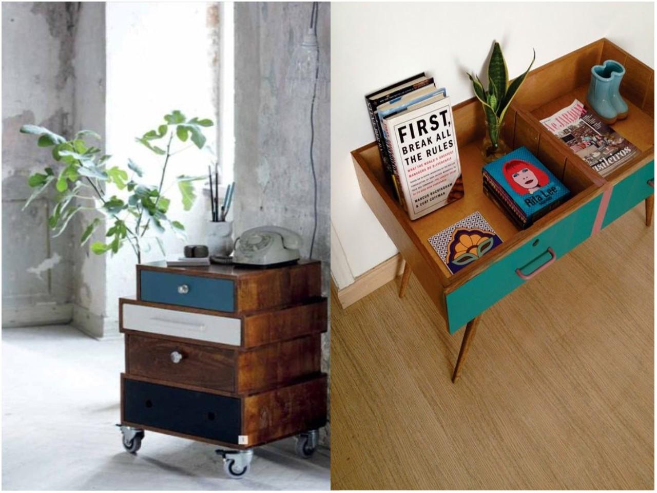 9 incre bles propuestas de decoraci n con madera reciclada - Mesitas de cafe ...