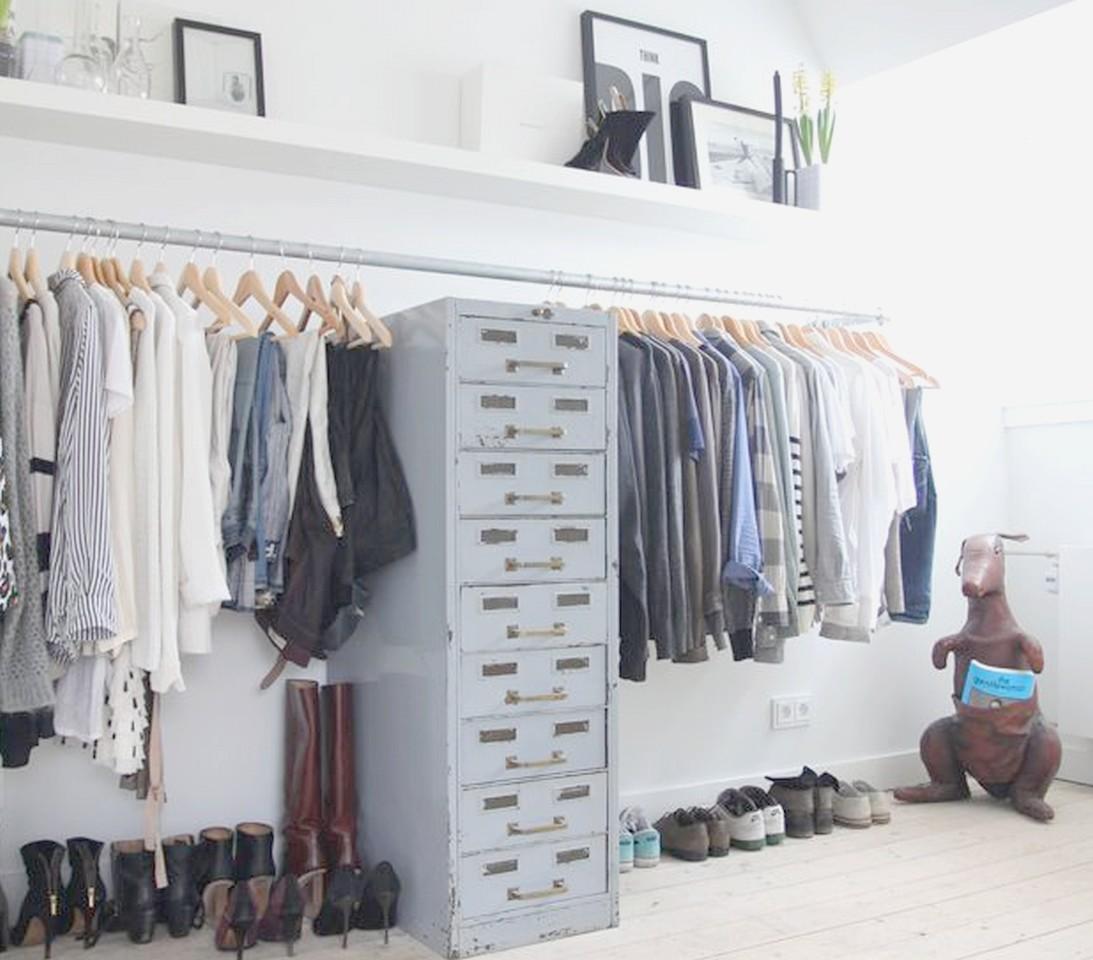Las 15 mejores ideas para un dormitorio con vestidor abierto - Cajoneras para ropa ...