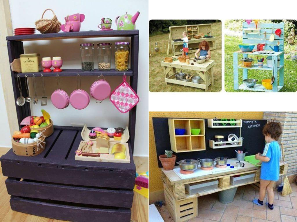 cocinitas de palets para niños