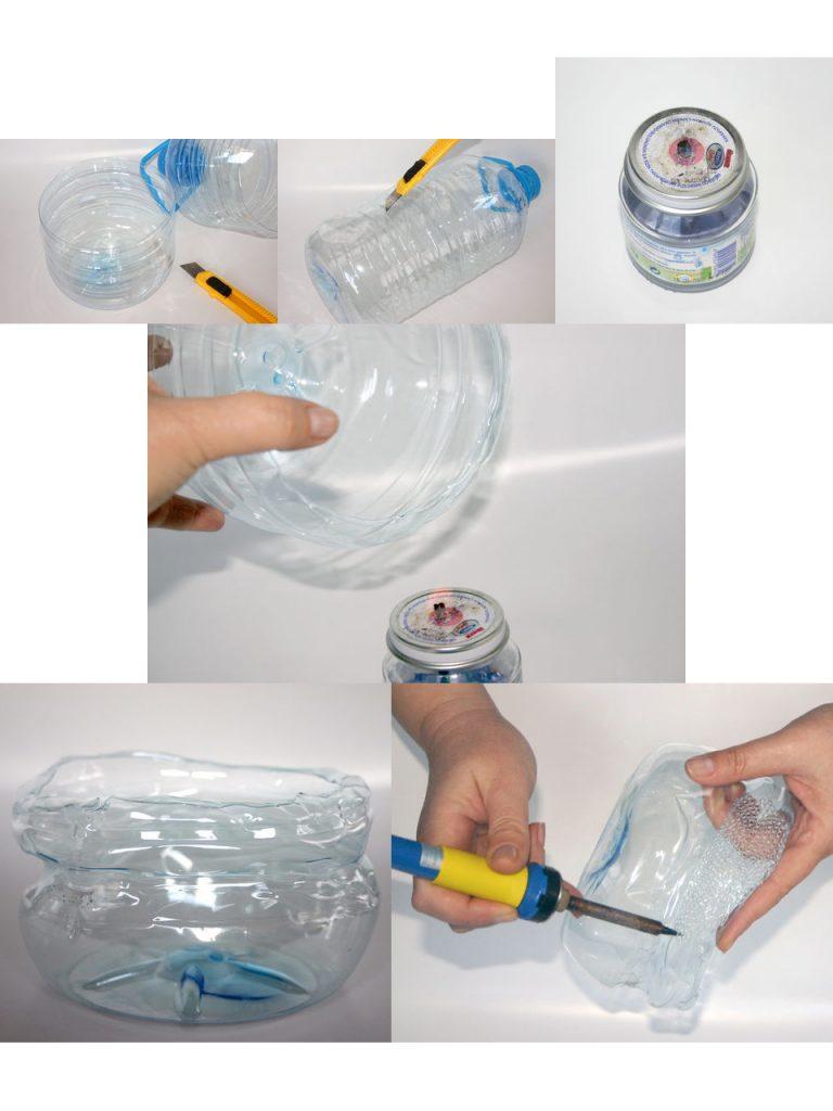 tutorial para hacer un bol con una botella de plástico