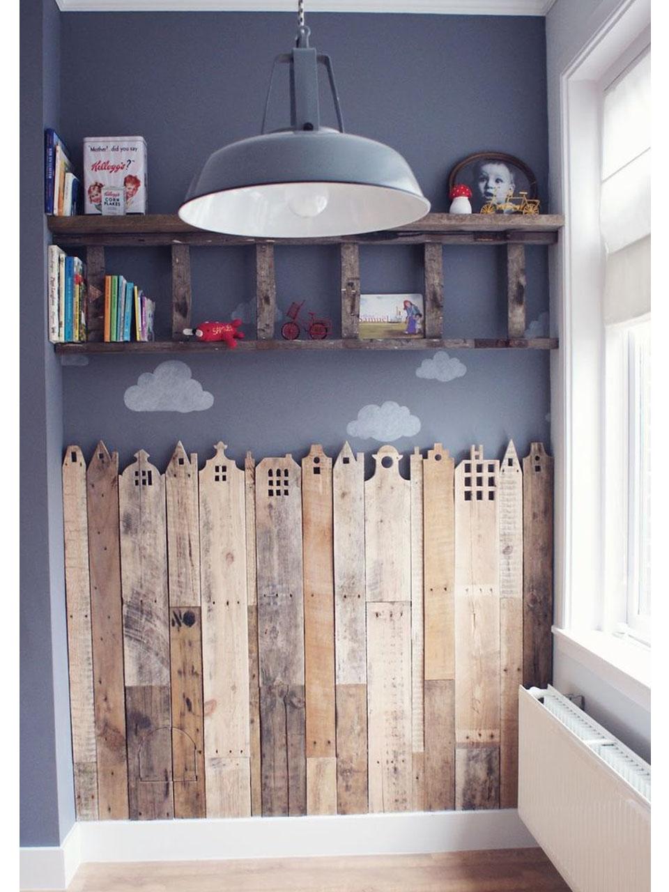 Las casas de palets para ni os m s divertidas - Pared de madera decoracion ...
