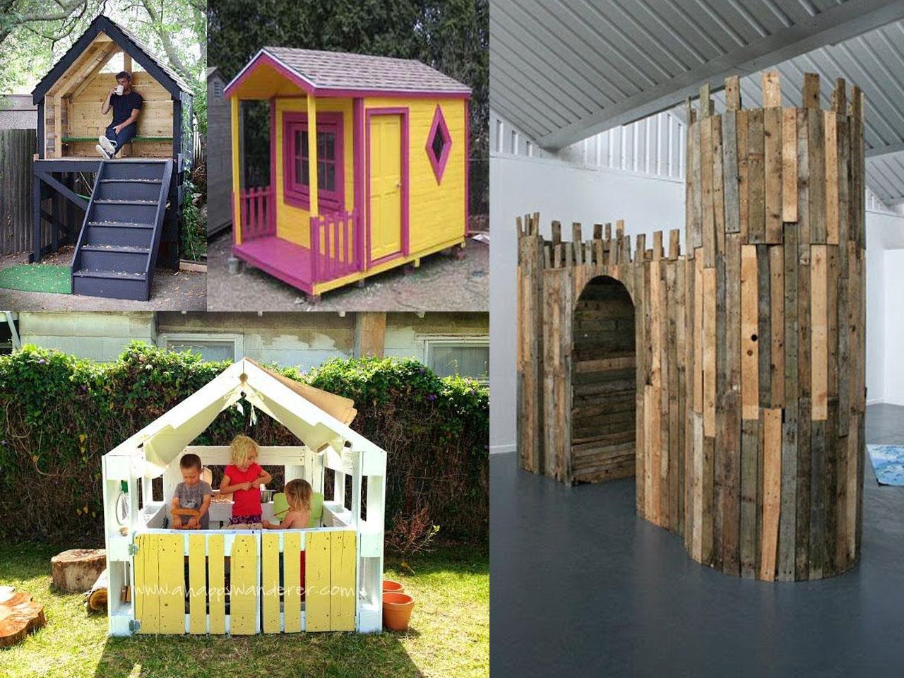 Las casas de palets para ni os m s divertidas - Casas madera ninos jardin ...