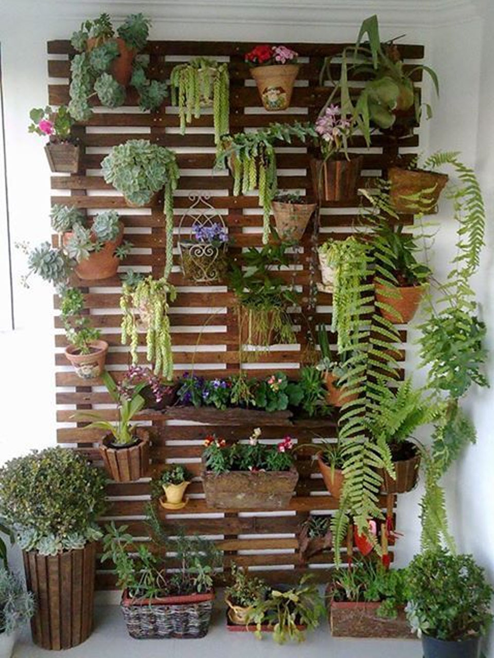 Ideas Para La Decoraci N De Jardines Con Palets ~ Macetas Originales Para El Jardin