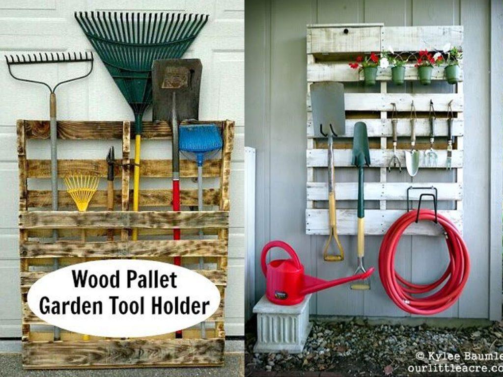 organizar las herramientas del jardín