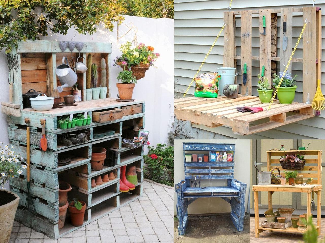 Ideas para la decoraci n de jardines con palets - Decorar paredes con palets ...