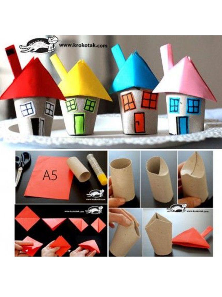 decoracion con rollos de papel higiénico