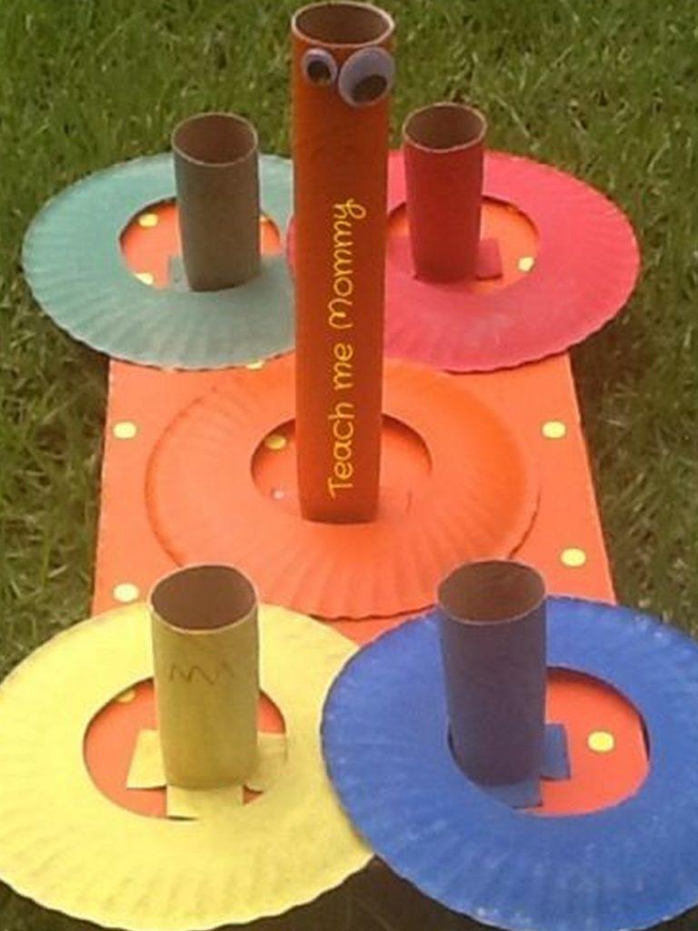 juguetes con rollos de papel higiénico