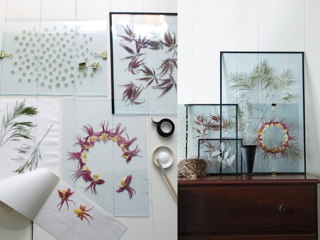 9 ideas de decoraci n con flores secas for Laminas salon decoracion