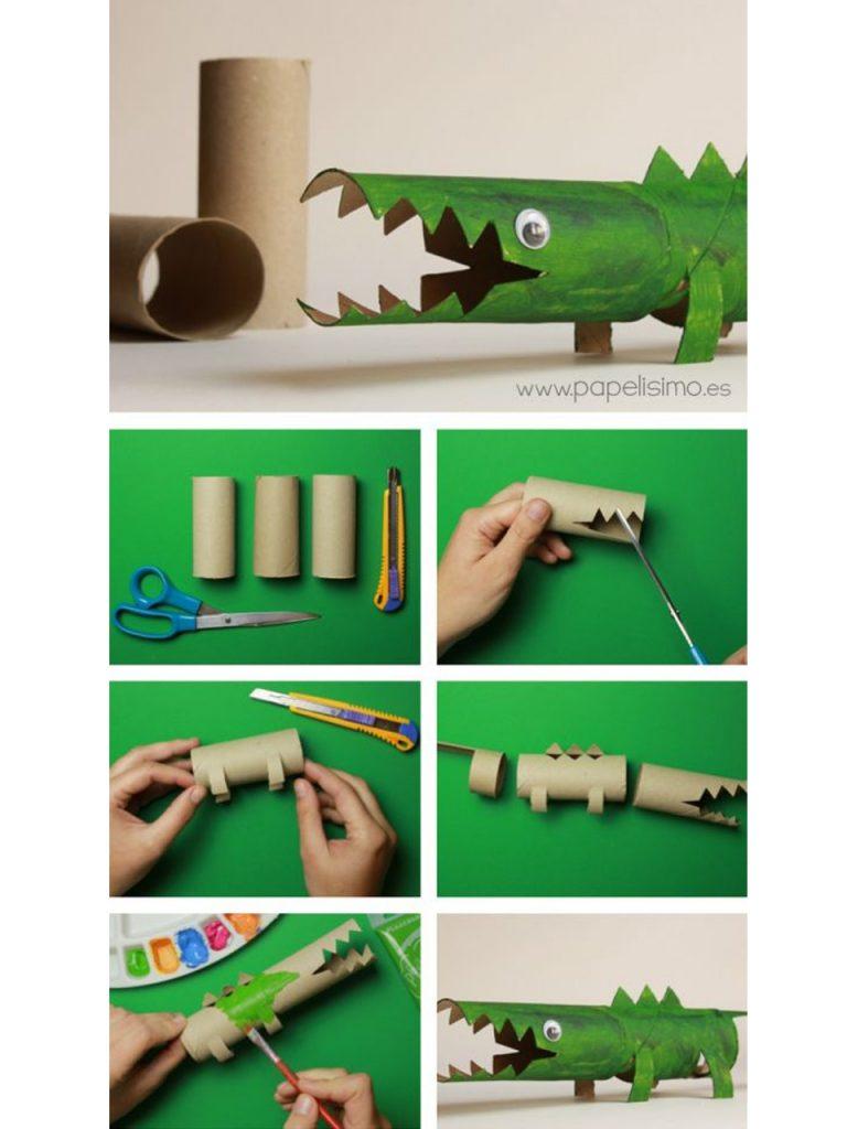 decorar con rollos de papel higiénico