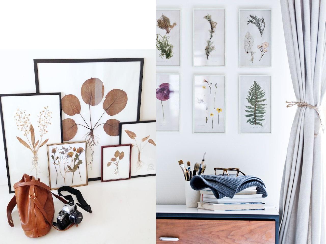 9 ideas de decoraci n con flores secas - Laminas para salon ...